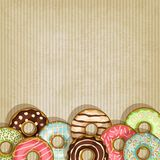 Retro background with donut Royalty Free Stock Photo