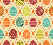 Background with Easter eggs. Retro background with Easter eggs Stock Photography