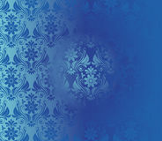 Retro Background Floral Blue Pattern Royalty Free Stock Image