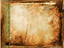 Retro background with floral ornaments Stock Images