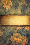 Retro background with floral ornaments Stock Photo