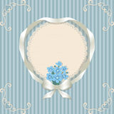 Retro background and forget-me-not Royalty Free Stock Photo