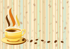 Retro background of fresh cup of coffee Royalty Free Stock Image