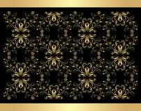 Retro background. Golden isolated on the black Stock Images