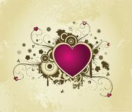 Retro background with heart Stock Photos