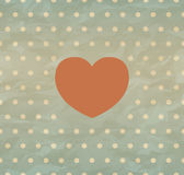 Retro background with heart Royalty Free Stock Images