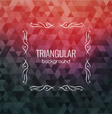 Retro Background, Hipster Triangles, Bright Colors, Geometric Shapes Monogram retro frame, vector illustration Stock Images