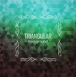 Retro Background, Hipster Triangles, Bright Colors, Geometric Shapes Monogram retro frame, vector illustration Stock Photos