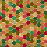 Retro background with honeycombs. Vector illustration Vector Illustration