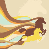 Retro background with horses Royalty Free Stock Images