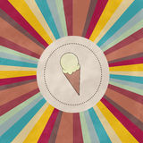 Retro background with ice cream Royalty Free Stock Photography