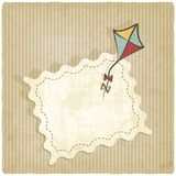 Retro background with kite. Vector illustration stock illustration