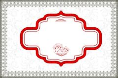 Retro Background with Lace Border Royalty Free Stock Photos