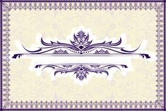Retro Background with Lace Border Stock Photos