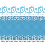 Retro background with lace borders. Background for greeting card or invitation with lace borders and embroidery. Vector Illustration Royalty Free Stock Images