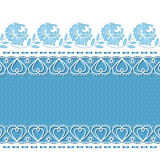 Retro background with lace borders Stock Photos