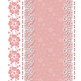Retro background with lace borders Stock Image