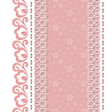 Retro background with lace borders Stock Images
