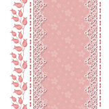 Retro background with lace borders Stock Photo
