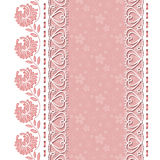 Retro background with lace borders Royalty Free Stock Images