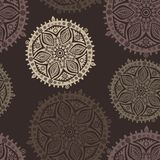 Retro background, lace seamless Stock Image