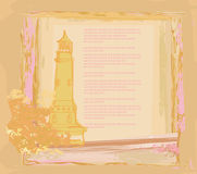 Retro background with lighthouse Royalty Free Stock Images