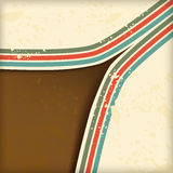 Retro background with lines Royalty Free Stock Photography