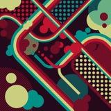 Retro background of lines. Retro background in grunge style Stock Illustration