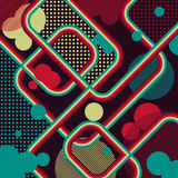Retro background of lines. Retro background in grunge style Vector Illustration