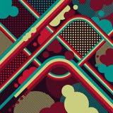 Retro background of lines. Retro background in grunge style Royalty Free Illustration