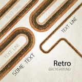 Retro background with lines. Vector Royalty Free Stock Photos