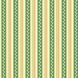 Retro background made with vertical stripes dots and leaves, Vintage hipster seamless pattern Stock Image