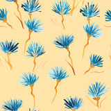 Retro background made of water colored flowers, Vintage hipster seamless pattern Royalty Free Stock Photo