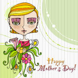 Retro background for mother's day Stock Photography