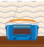 Retro background. Old radio with a retro background Royalty Free Stock Photography