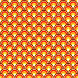Retro background with orange circles Stock Images