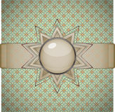 Retro background with ornament. Stock Image