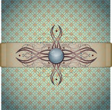 Retro background with ornament. Stock Photography