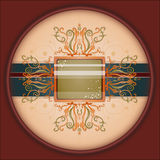 Retro background with ornament. Royalty Free Stock Images