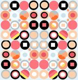 Retro background pattern. Funky retro pattern for backgrounds, giftwrap, scrap-booking etc Stock Photos