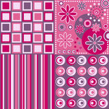 Retro Background [Pink]. Four retro backgrounds in pink tone. Three different versions (pink, blue and warm colors) in my portfolio Stock Photography