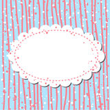 Retro background in pink and blue Royalty Free Stock Image