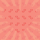 Retro background rays red heart star Royalty Free Stock Image