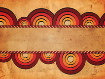 Retro background with red circles and text space Stock Images