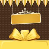 Retro Background with Ribbon Bow Royalty Free Stock Photo