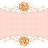 Retro background with roses Stock Photography