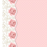 Retro background with roses Stock Images