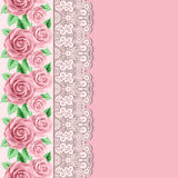 Retro background with roses Royalty Free Stock Photo