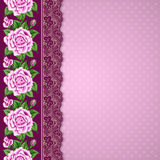 Retro background with roses Stock Photos