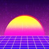 Retro background 80s design. Vintage backdrop template. Vector illustration Stock Images